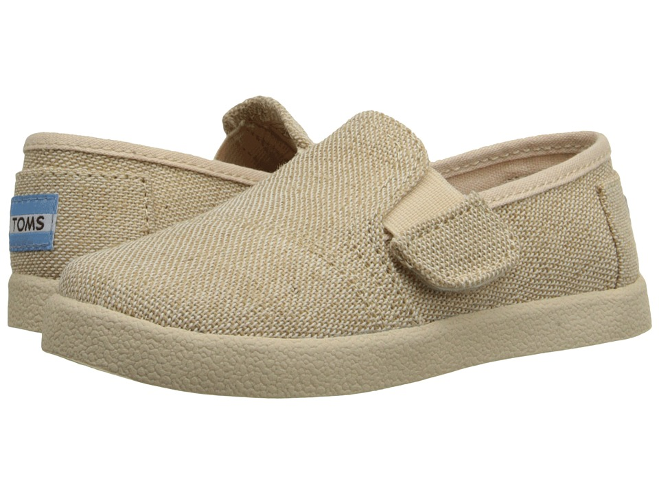 TOMS Kids - Avalon Slip-On (Infant/Toddler/Little Kid) (Natural Burlap) Kids Shoes