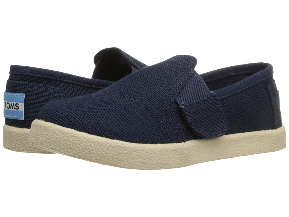 TOMS Kids - Avalon Slip-On (Infant/Toddler/Little Kid) (Navy Burlap) Kids Shoes