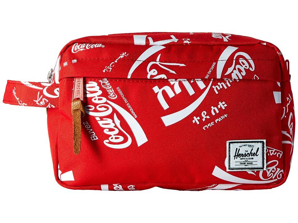 Herschel Supply Co. - Chapter (Red Coca Cola) Toiletries Case