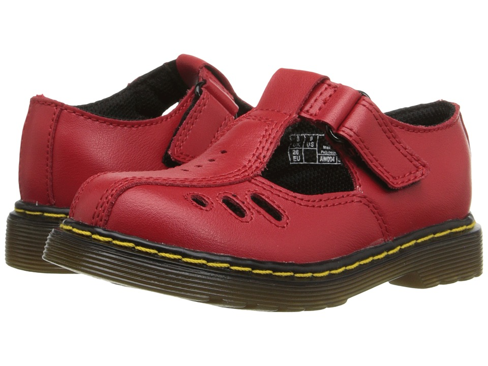 Dr. Martens Kid's Collection - Ashby I (Toddler) (Red) Girls Shoes