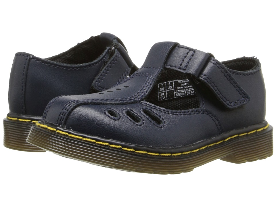 Dr. Martens Kid's Collection - Ashby I (Toddler) (Navy) Girls Shoes