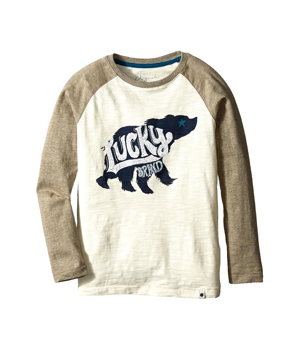 Lucky Brand Kids - Carry On Bear Tee (Little Kid/Big Kid) (Turtle Dove) Boy's T Shirt