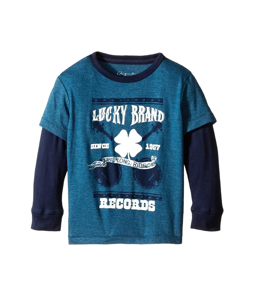 Lucky Brand Kids - Ride On Slider (Toddler) (Dark Capri Heather) Boy's T Shirt