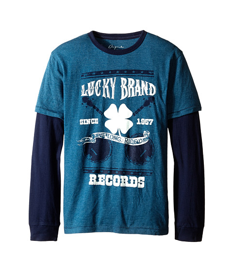 Lucky Brand Kids - Ride On Slider (Big Kid) (Dark Capri Heather) Boy