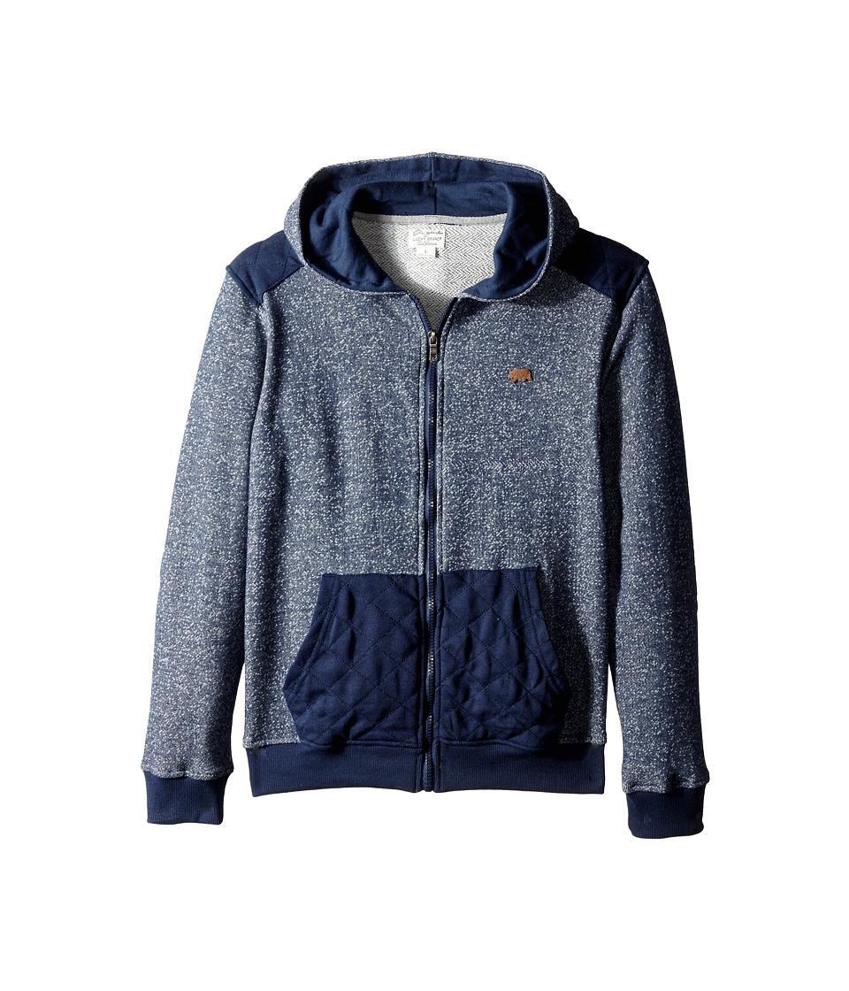 Lucky Brand Kids - Diamond Quilted Hoodie (Big Kid) (Black Iris) Boy's Sweatshirt