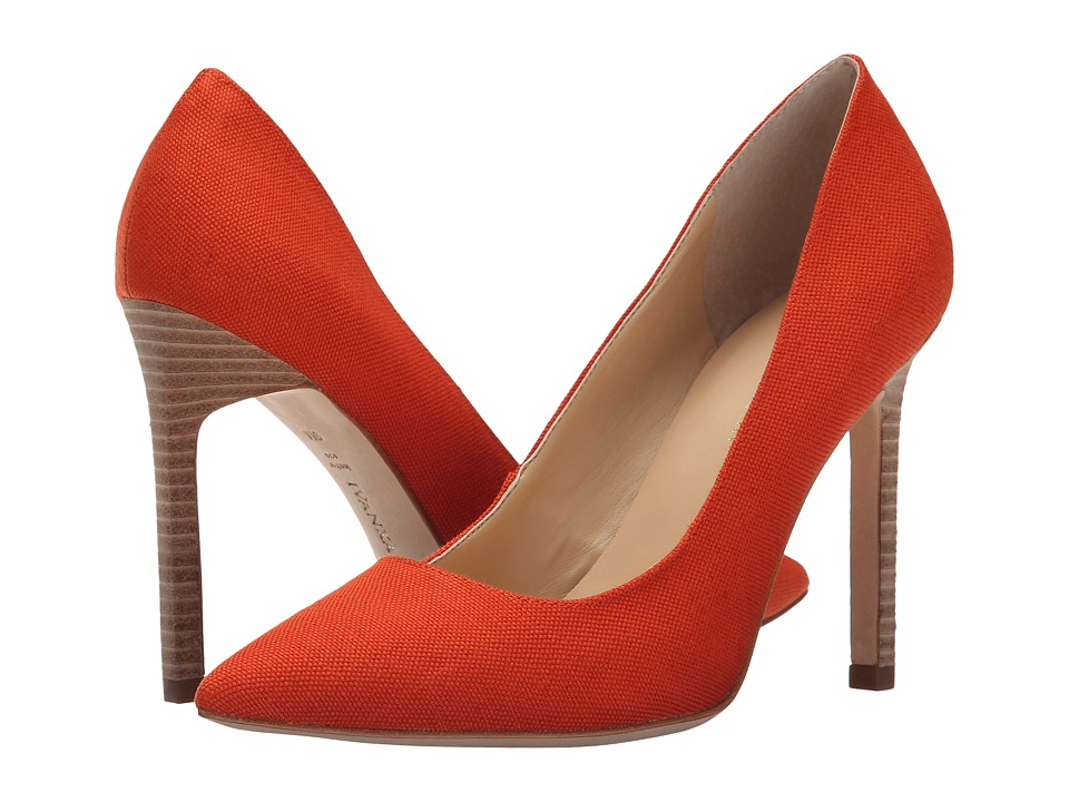 Ivanka Trump Carra 4 (Orange Fabric) High Heels