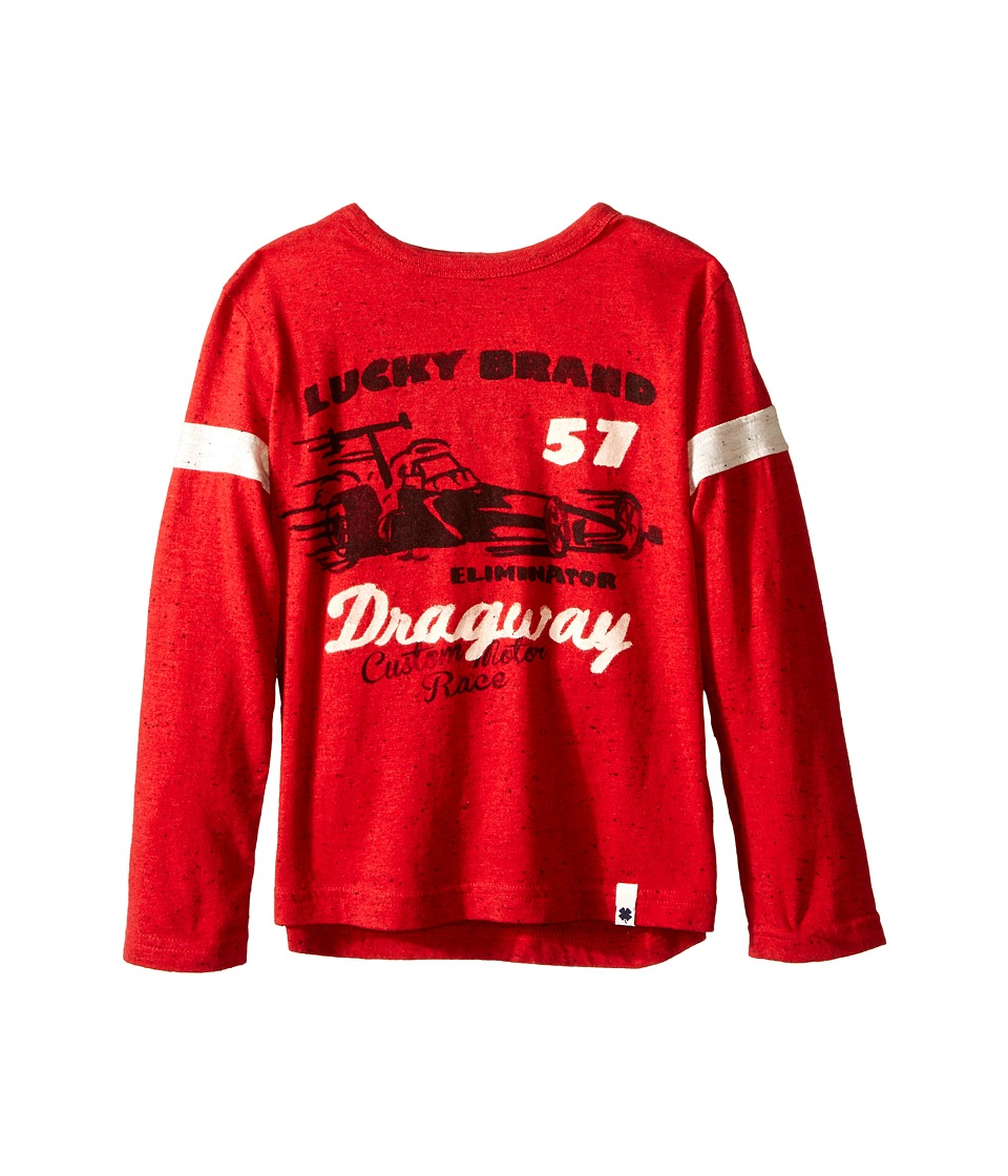 Lucky Brand Kids - Dragway Tee (Little Kid/Big Kid) (Tango Red) Boy's T Shirt