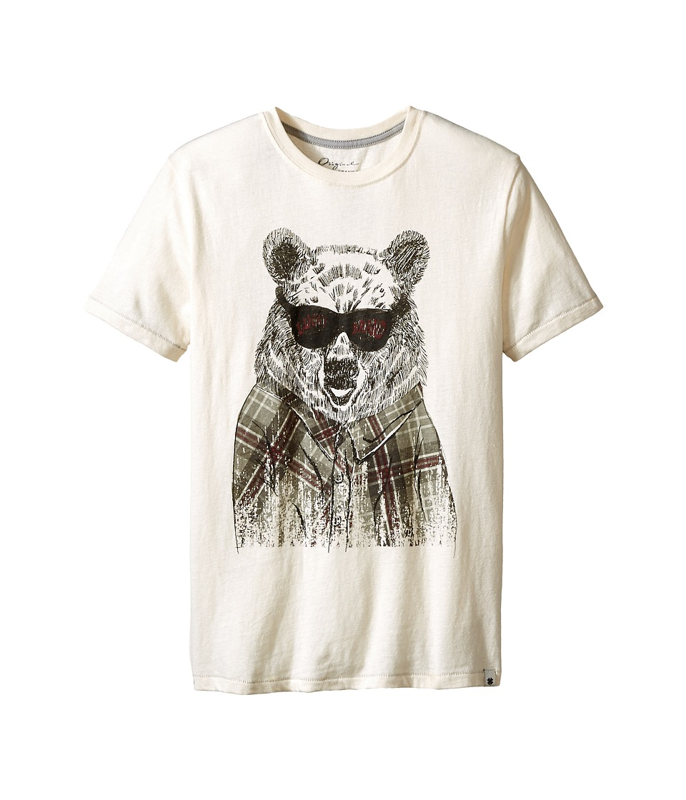 Lucky Brand Kids - Plaid Bear Tee (Big Kid) (Turtle Dove) Boy's T Shirt