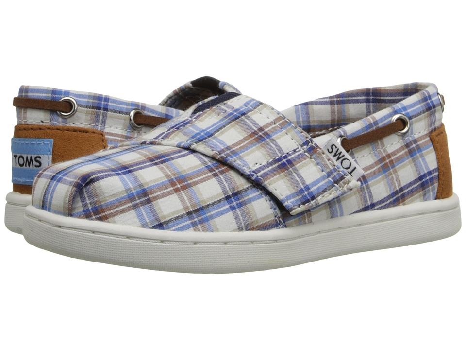 TOMS Kids - Bimini Espadrille (Infant/Toddler/Little Kid) (Blue Multi Woven Plaid) Kids Shoes