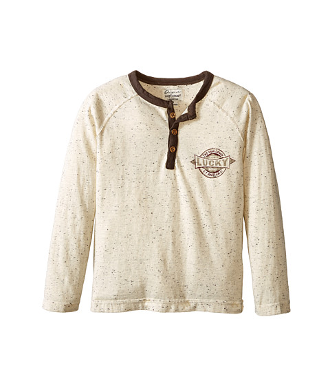 Lucky Brand Kids - Records Raglan (Little Kid/Big Kid) (Turtle Dove) Boy