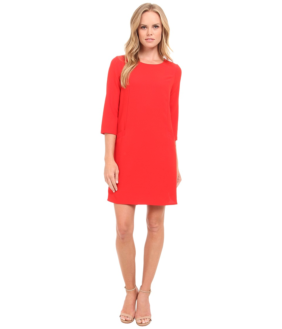 Jack by BB Dakota - Dee Heavy Crepe Shift Dress (Flame Scarlet Red) Women's Dress