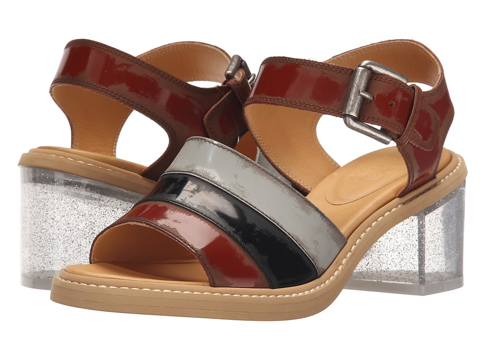 MM6 Maison Margiela - Glitter Heel Sandal (Brown/Light Grey/Black) Women's Shoes