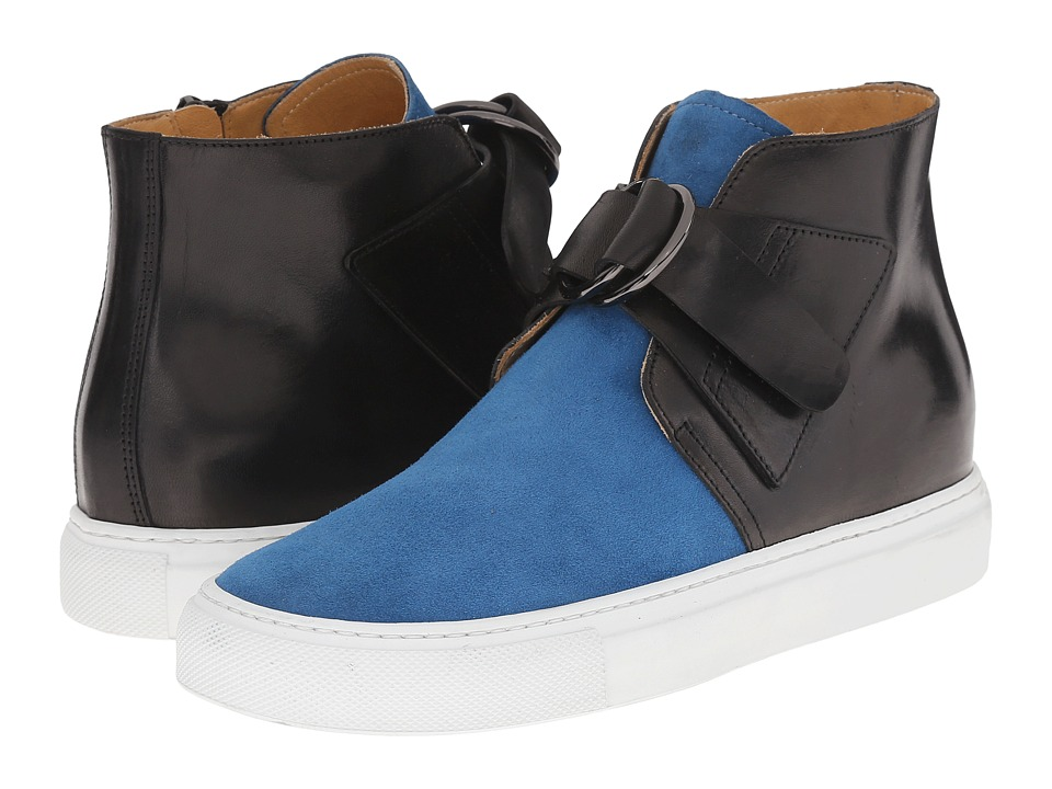 MM6 Maison Margiela - Harness High Top Sneaker (Black/Blue) Women's Shoes
