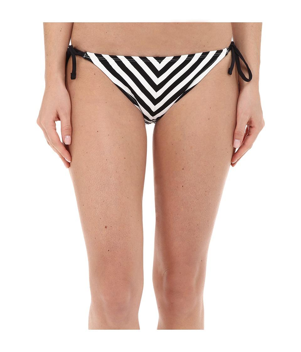 Tommy Bahama - Black White Stripes String Bikini Bottom (White) Women's Swimwear