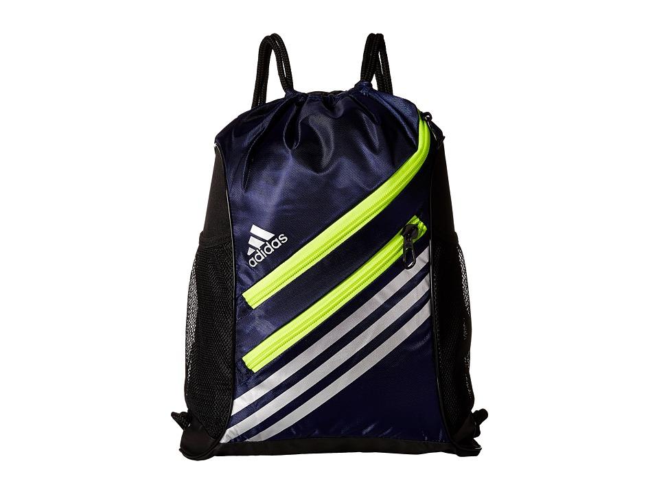 adidas - Strength Sackpack (Midnight Indigo/Solar Yellow) Bags