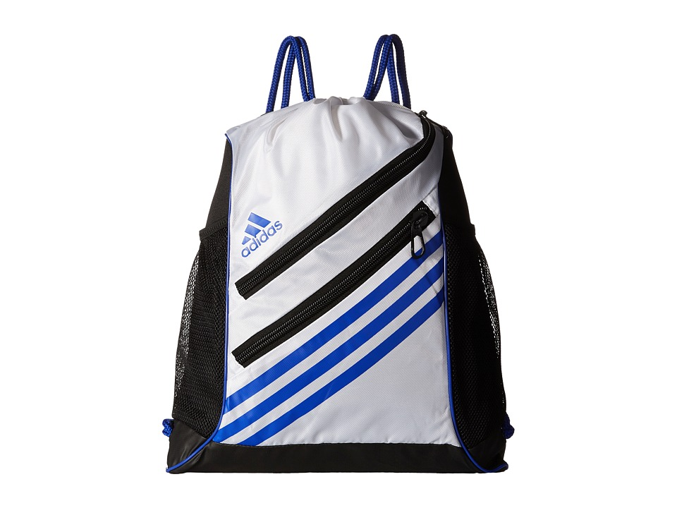adidas - Strength Sackpack (White/Bold Blue) Bags