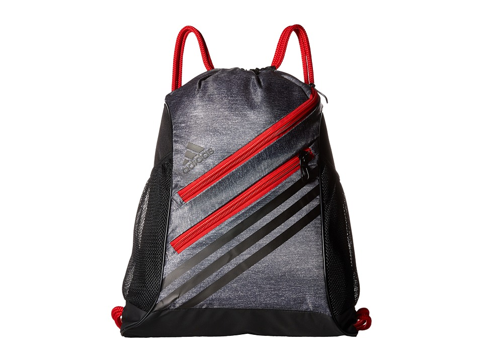adidas - Strength Sackpack (Heather Grey/Scarlet) Bags