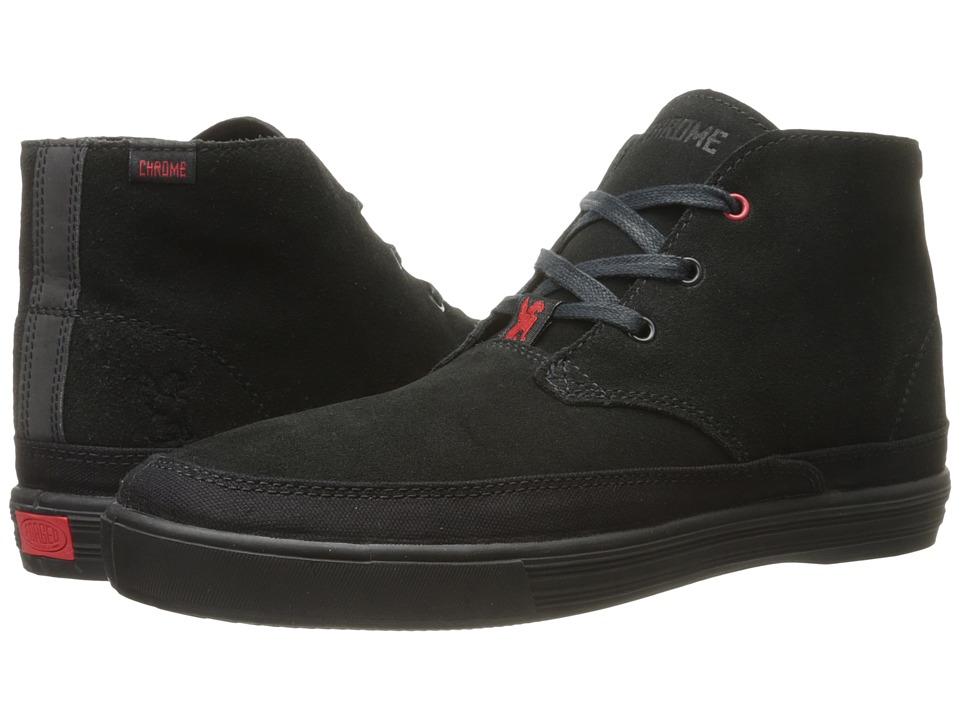 Chrome - Suede Forged Chukka (Black/Black) Athletic Shoes