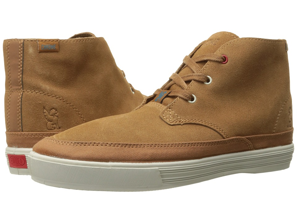 Chrome - Suede Forged Chukka (Golden Brown/Off-White) Athletic Shoes