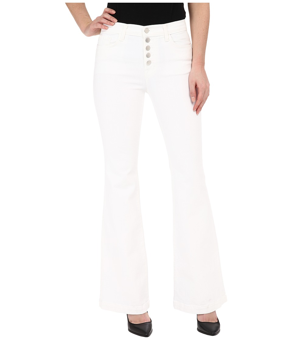 J Brand - Maria Flare w/ Exposed Button Fly in Blanc (Blanc) Women's Jeans