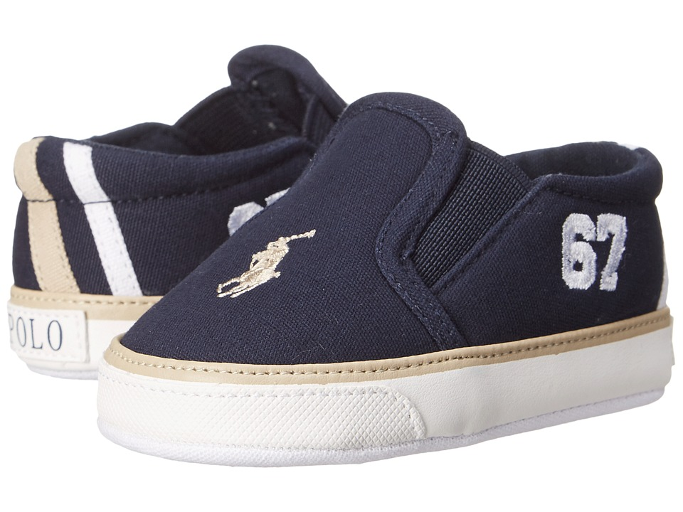 Ralph Lauren Layette Kids - Victory (Infant/Toddler) (Navy) Boy's Shoes