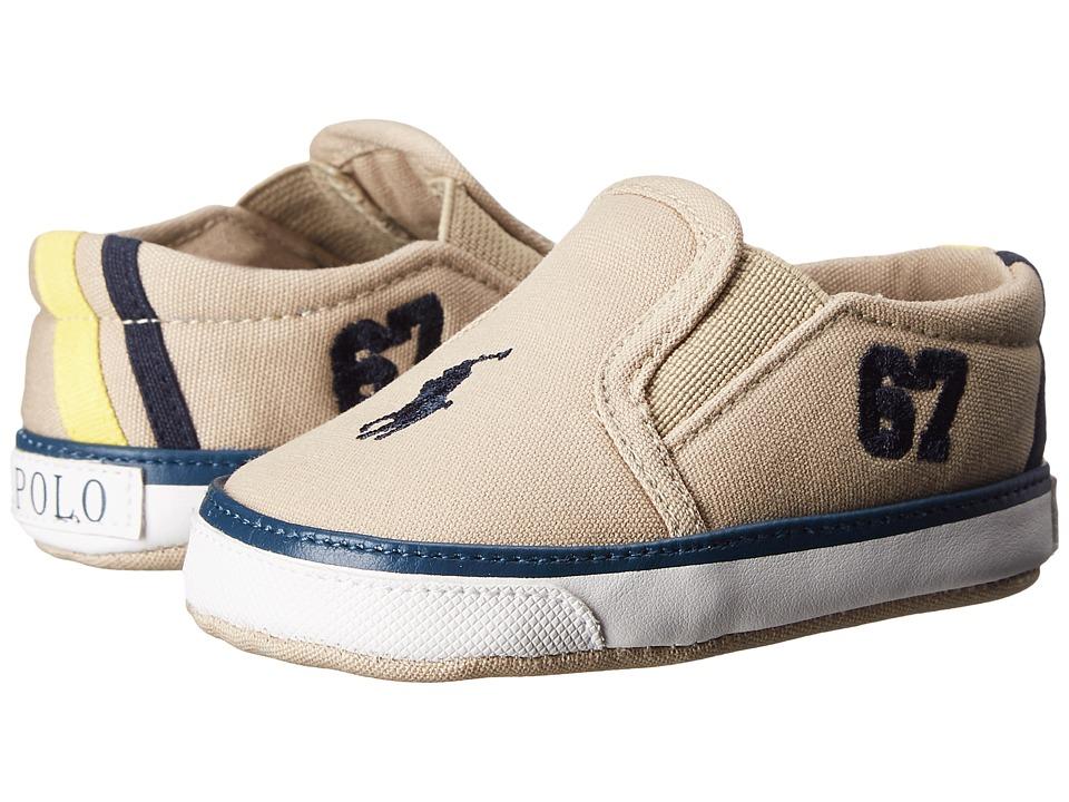 Polo Ralph Lauren Kids - Victory (Infant/Toddler) (Khaki) Boy's Shoes