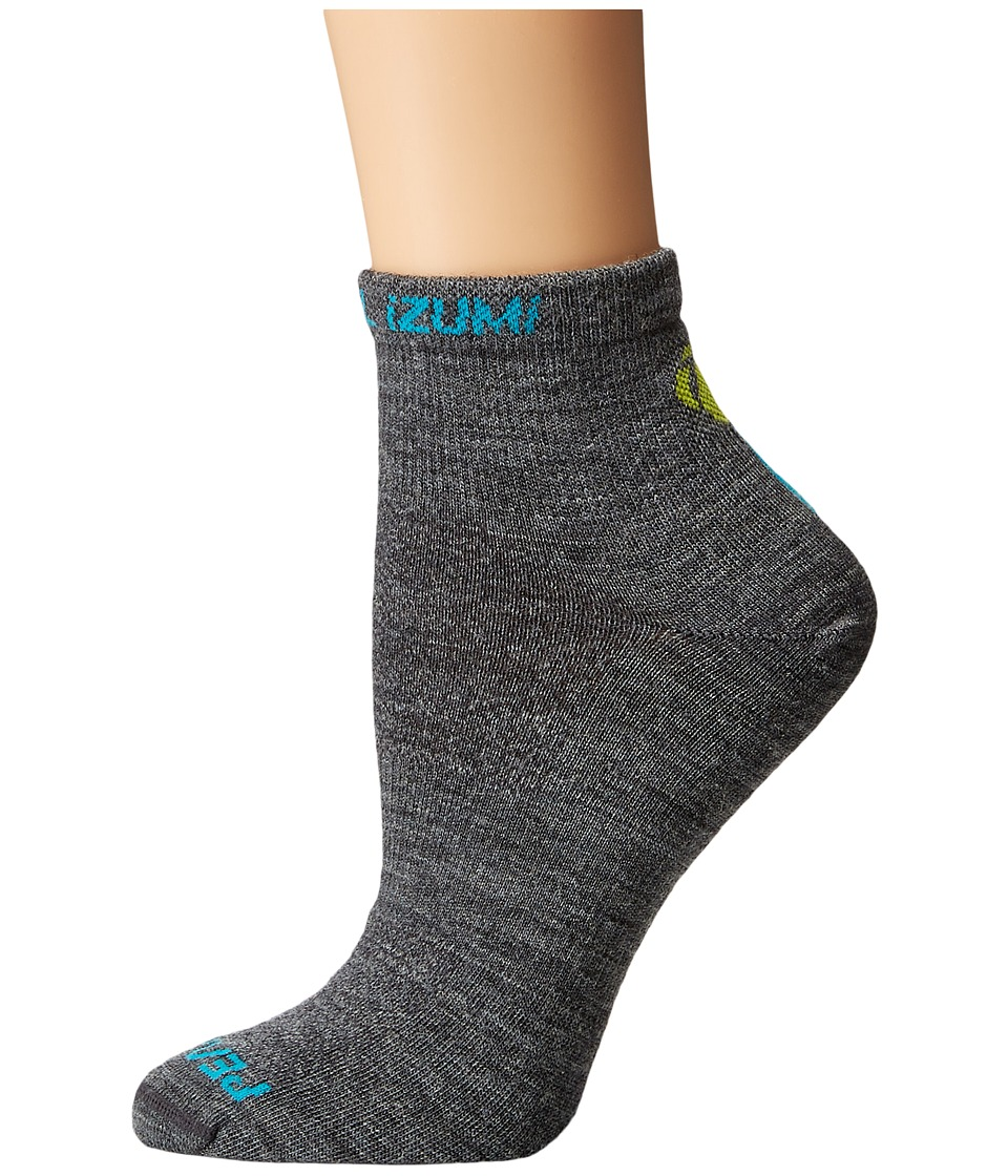 Pearl Izumi - Elite Wool Sock (Shadow Grey) Women's Crew Cut Socks Shoes