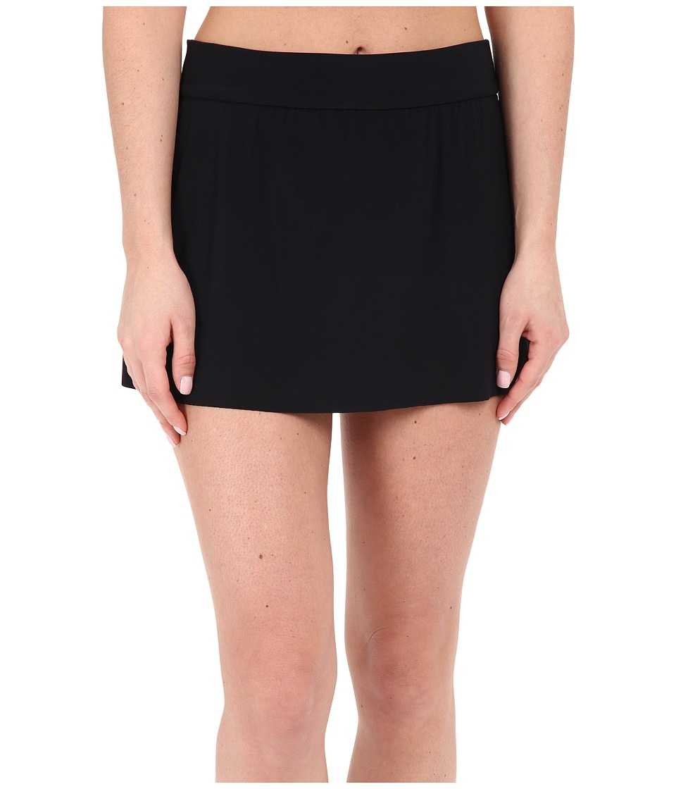 Magicsuit - Jersey Tennis Skirt Bottoms (Black) Women's Swimwear