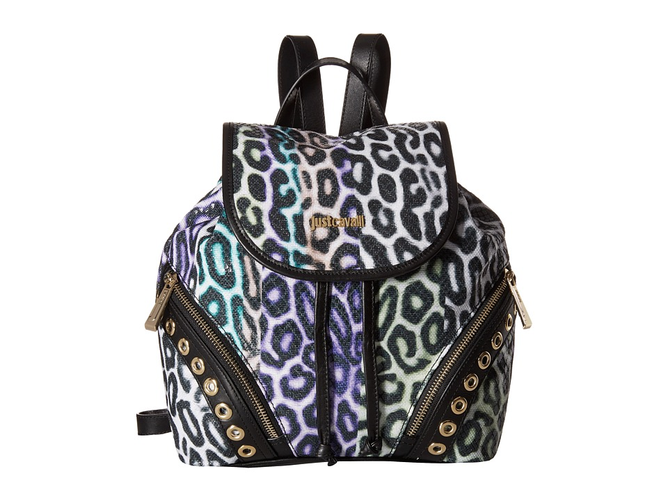Just Cavalli - Shark Baiadera Printed Canvas (Multi) Backpack Bags