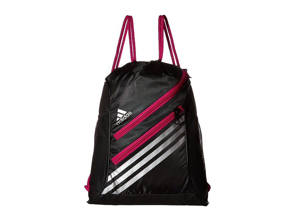 adidas - Strength Sackpack (Black/Bold Pink) Bags