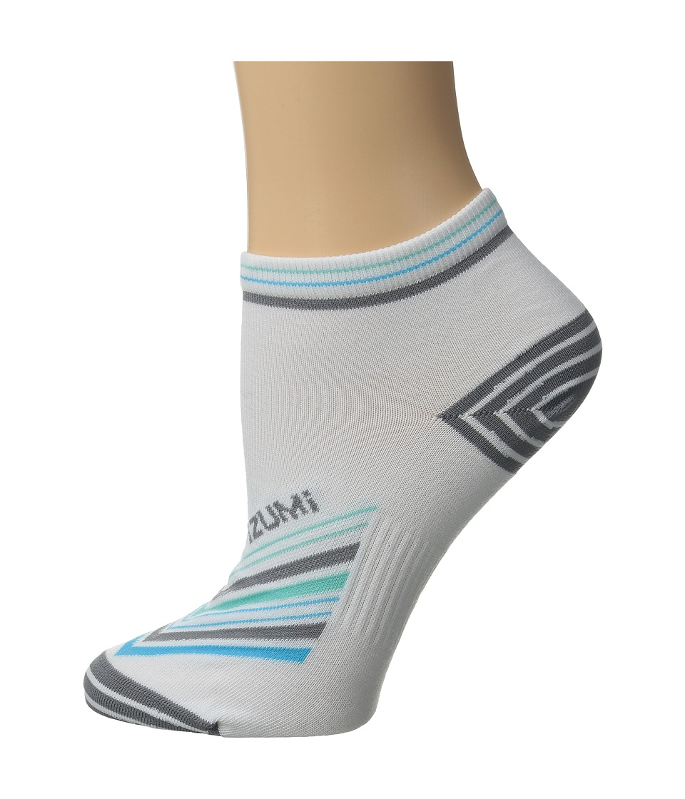 Pearl Izumi - W Elite Low Sock (Strip Stripe Grey) Women's Low Cut Socks Shoes
