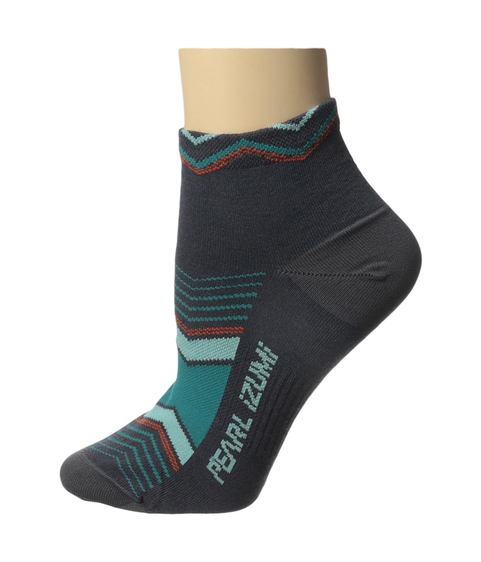 Pearl Izumi - W Elite Low Sock (Chevrons Viridian Green) Women's Low Cut Socks Shoes