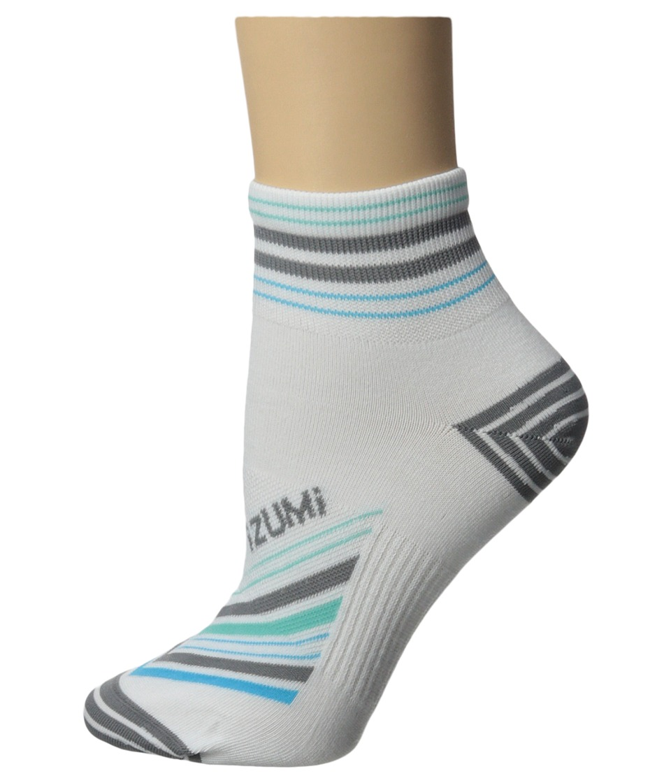 Pearl Izumi - W Elite Sock (Strip Stripe Grey) Women's Crew Cut Socks Shoes
