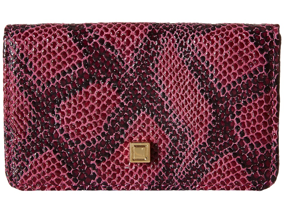 Lodis Accessories - Party Python Mini Card Case (Sangria) Credit card Wallet