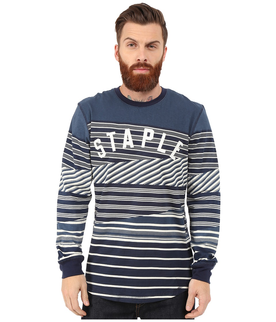 Staple - Breakneck Long Sleeve Tee (Navy) Men's T Shirt