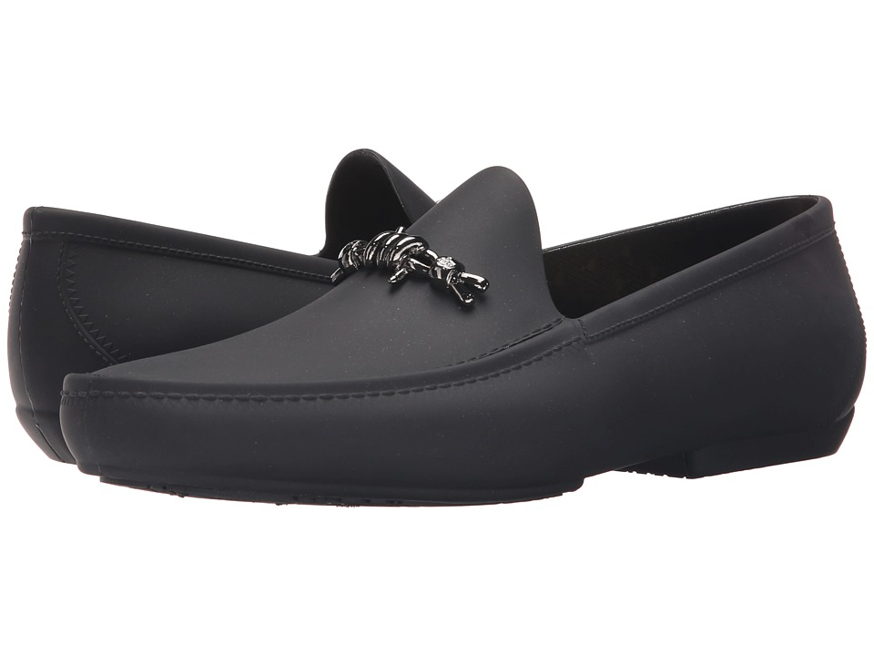 Vivienne Westwood - Barbed Wire Moccasin (Black) Men's Slip on Shoes