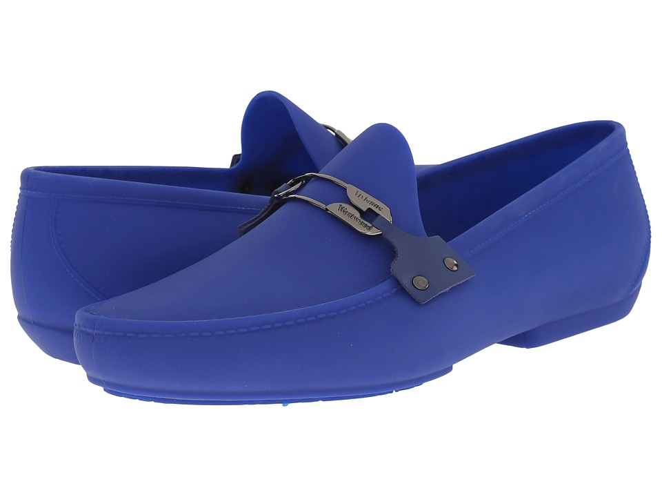 Vivienne Westwood - Safety Pin Moccasin (Blue) Men's Slip on Shoes