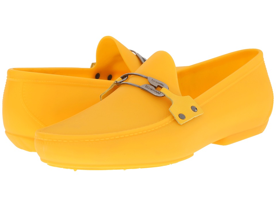 Vivienne Westwood - Safety Pin Moccasin (Yellow) Men's Slip on Shoes