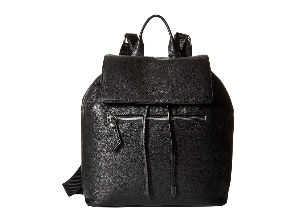 Vivienne Westwood - Leather Backpack (Black) Backpack Bags