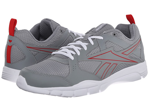 Reebok - Trainfusion 5.0 (Flat Grey/Red Rush/White) Men's Shoes