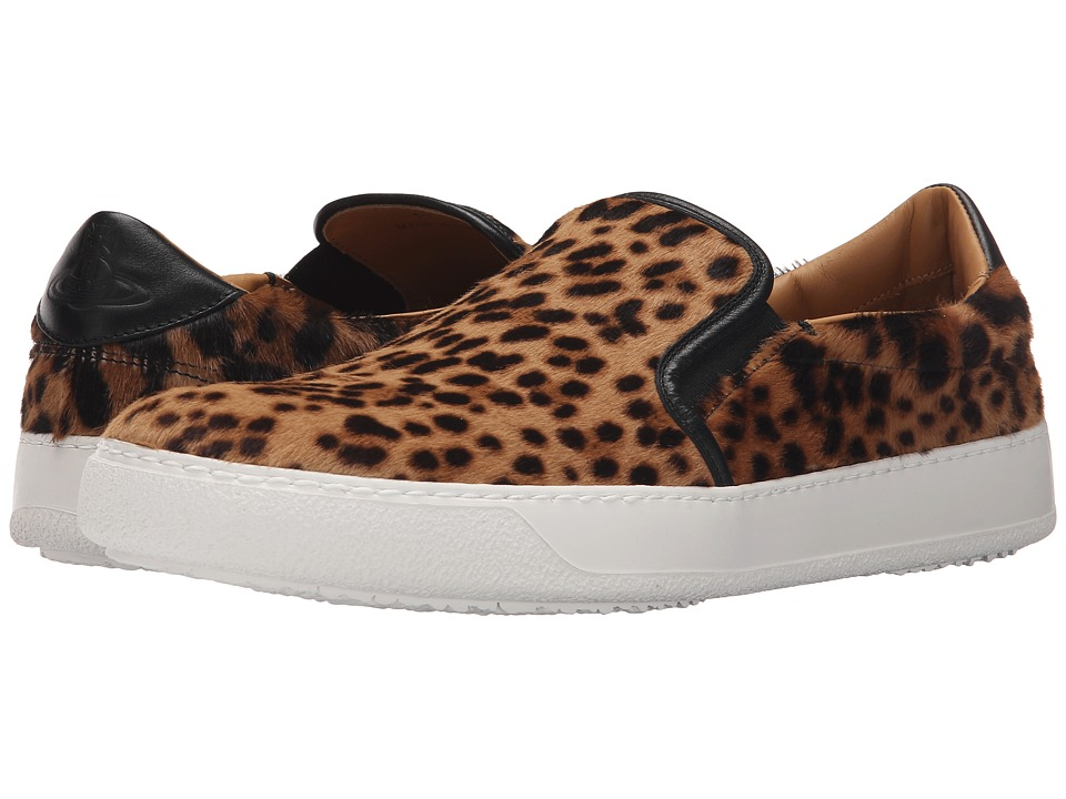 Vivienne Westwood - Slip-On Trainer (Leopard) Men's Slip on Shoes