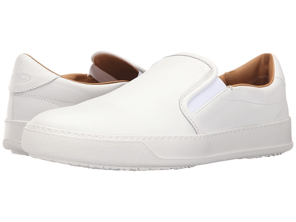 Vivienne Westwood - Slip-On Trainer (White) Men's Slip on Shoes