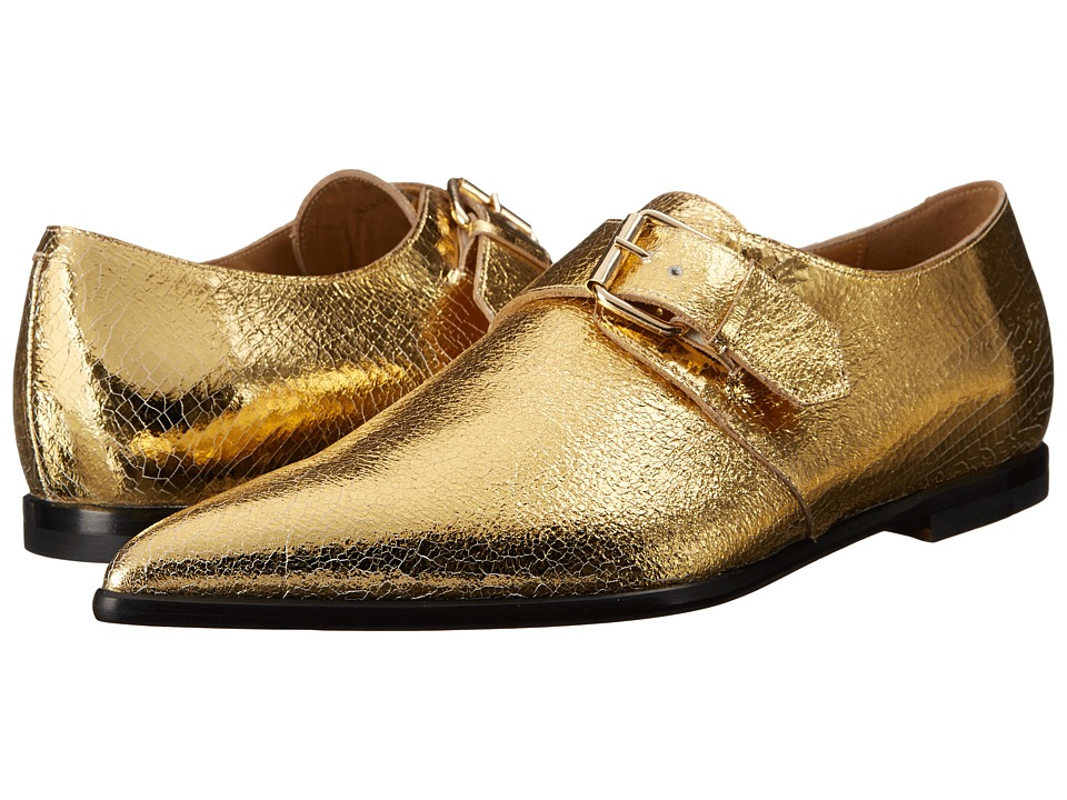 Vivienne Westwood - Carnaby Buckle Shoe (Gold) Men's Monkstrap Shoes
