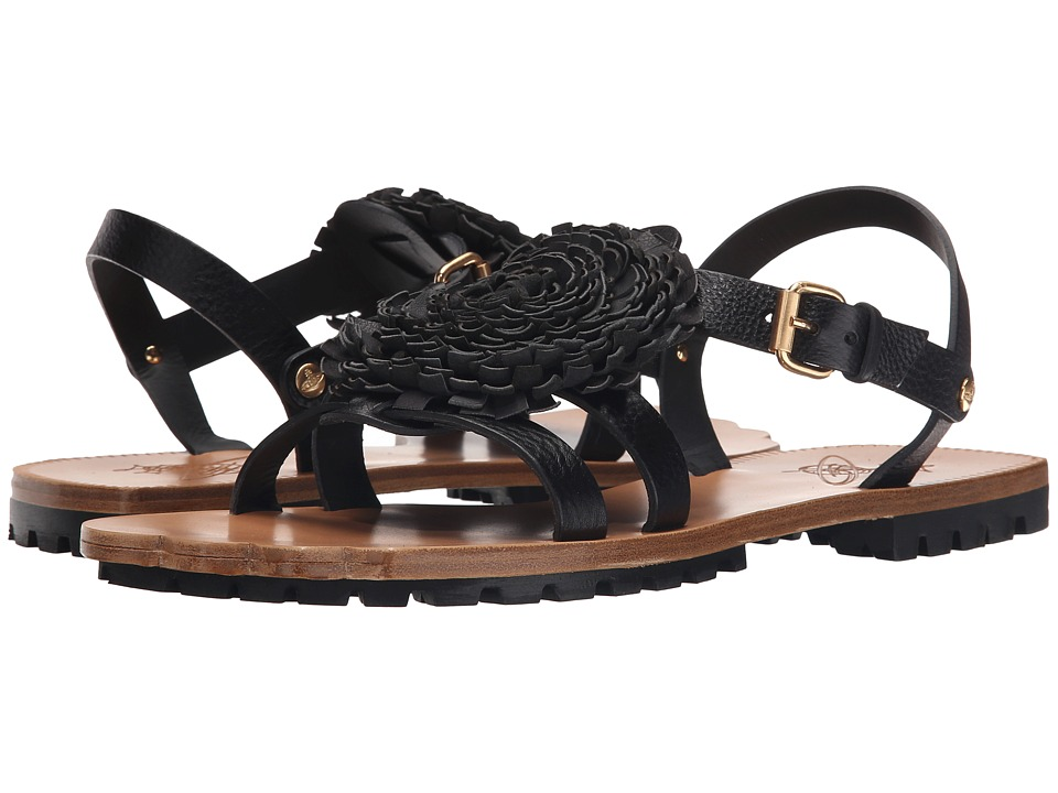 Vivienne Westwood - Animal Toe Pom Pom Sandal (Black) Men's Sandals