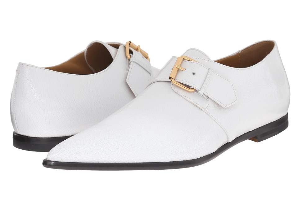 Vivienne Westwood - Carnaby Buckle Shoe (White) Men's Monkstrap Shoes
