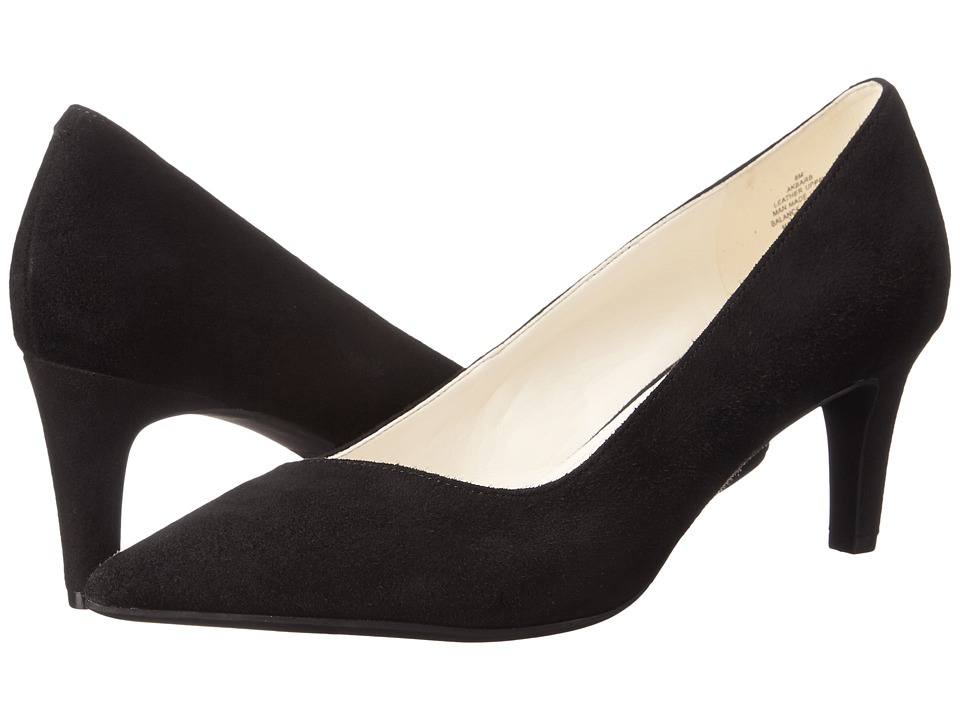Anne Klein Barb (Black Suede) High Heels