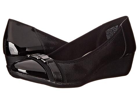 Anne Klein - Beamer (Black Multi Fabric) Women's Wedge Shoes