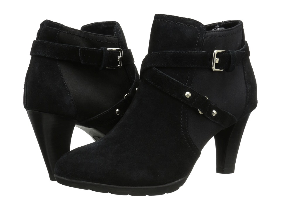 Anne Klein - Damina (Black/Black Suede) Women's Pull-on Boots