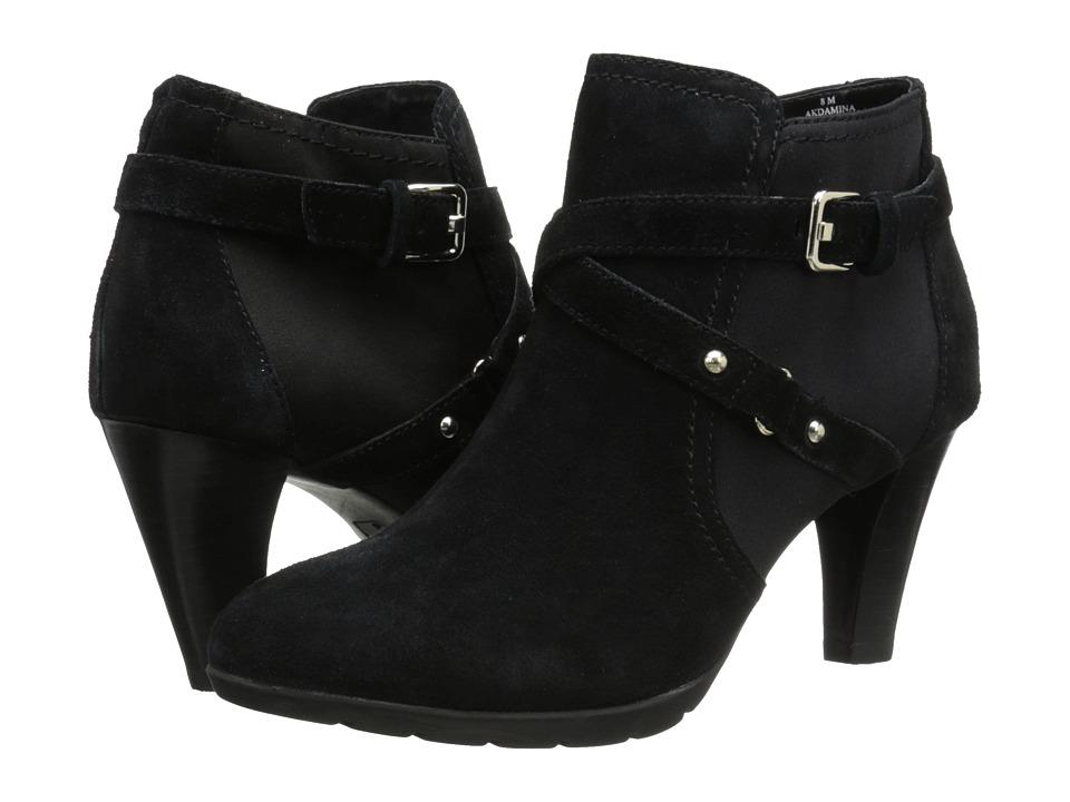 Anne Klein - Damina (Black/Black Suede) Women's Pull-on Boots