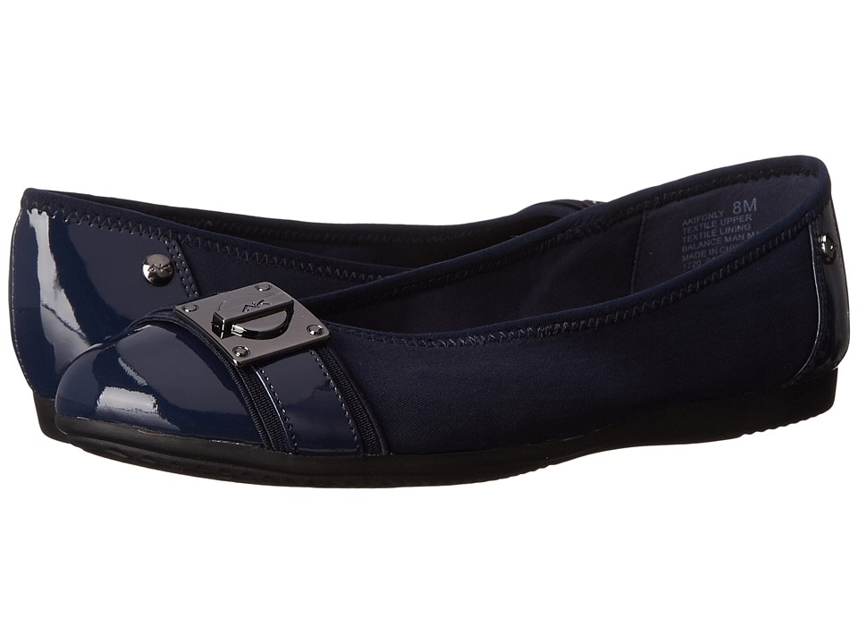 Anne Klein - Ifonly (Navy Multi Fabric) Women's Flat Shoes